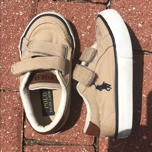 Polo canvas sneakers size 7